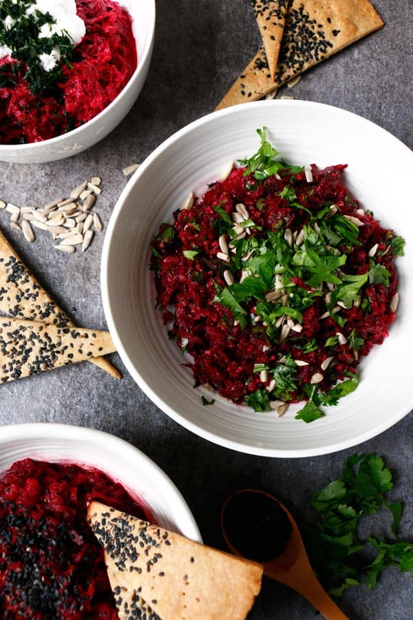 Simple Beetroot Dip 3 Ways