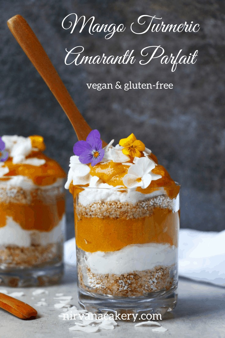 Mango Turmeric Amaranth Parfait (gluten-free & vegan)