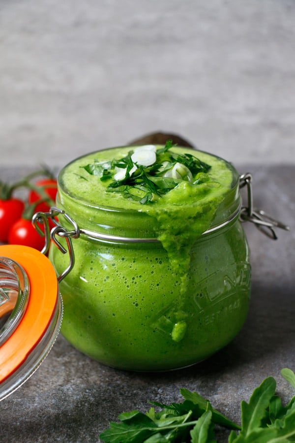 Chilled Green Summer Soup (grain-free & vegan)