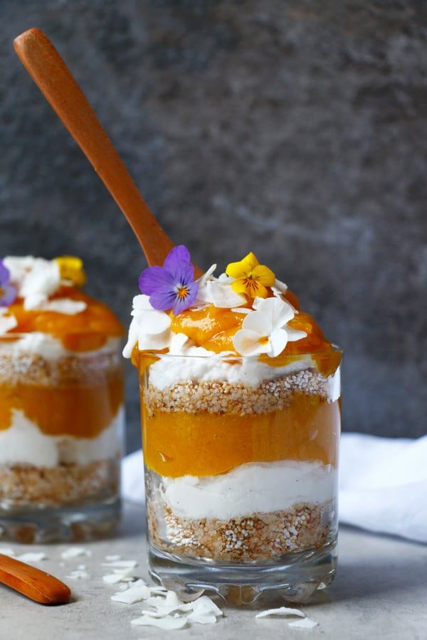 Mango And Ginger Cream Parfaits Recipe — Dishmaps