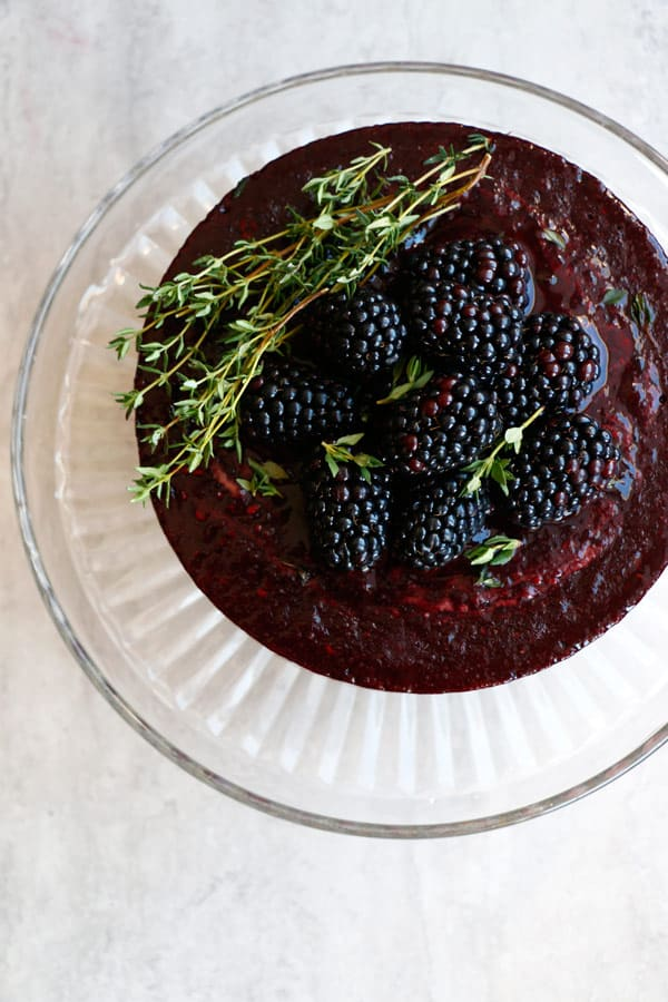 Chocolate, Blackberry and Thyme Ice Cream Cake (grain-free & vegan)