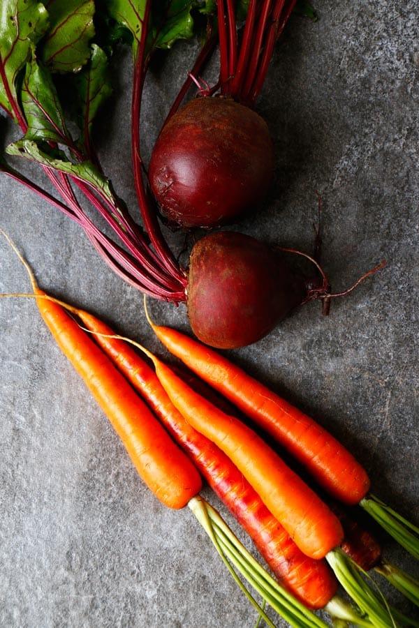 Savoury Beetroot, Carrot and Oat Bake (gluten-free & vegan)
