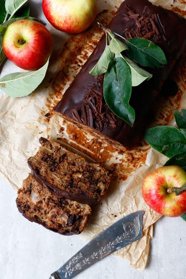 Chocolate Apple Cake (vegan, gluten-free, nut-free)
