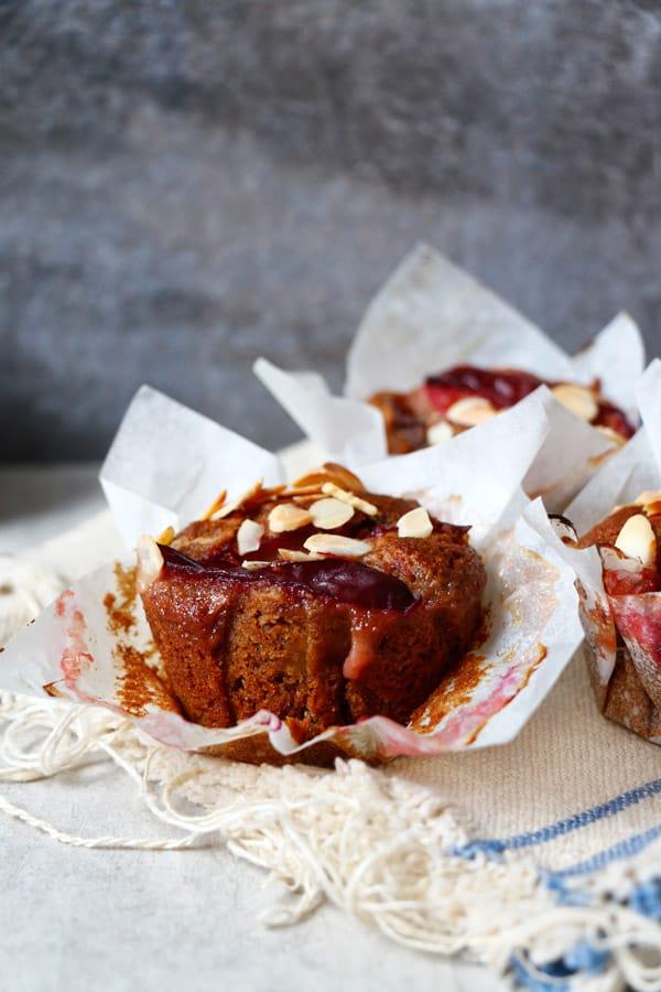Healthy Gluten-Free Plum Muffins (vegan)