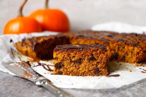 Pumpkin Chocolate Bars (vegan, gluten-free, nut-free)