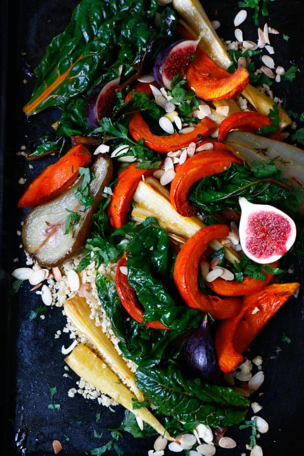 Warm Autumn Salad (gluten-free & vegan)