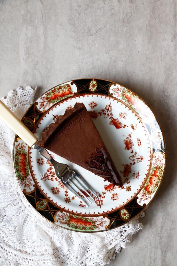 Chocolate Pumpkin Tart (vegan, gluten-free, nut-free)