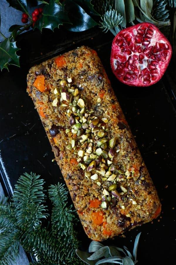 Quinoa Squash Nut Roast (gluten-free & vegan)