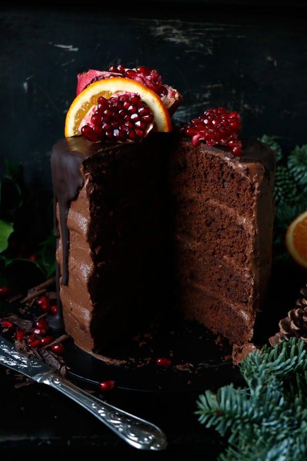 Vegan Chocolate Orange Cake (gluten-free, nut-free)