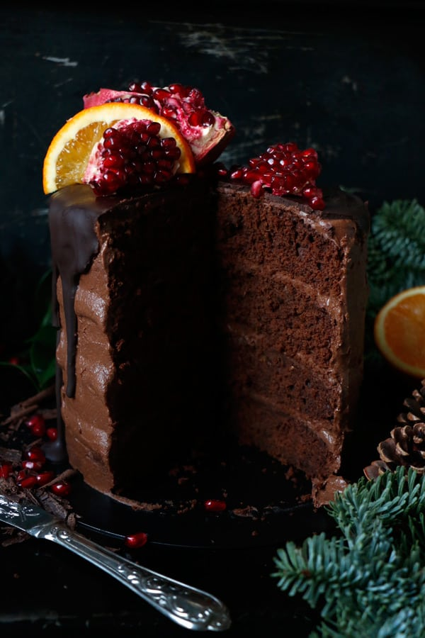 Vegan Chocolate Orange Cake (gluten-free, nut-free)