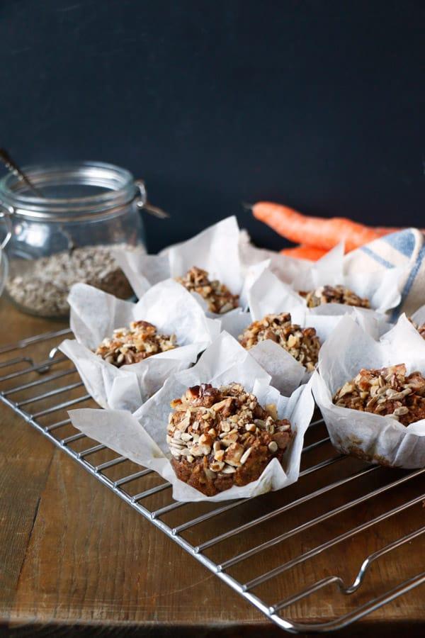 Carrot Cake Breakfast Muffins (gluten-free & vegan)