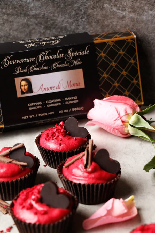 Chocolate Raspberry Mousse Cups (vegan, grain-free, nut-free)
