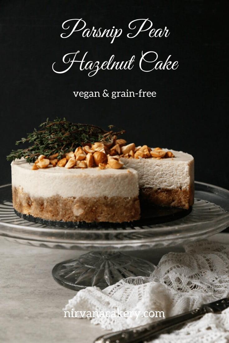 Parsnip Pear Hazelnut Cake