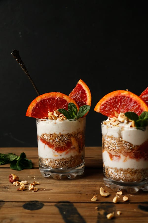 Blood Orange Amaranth Parfait (gluten-free & vegan)