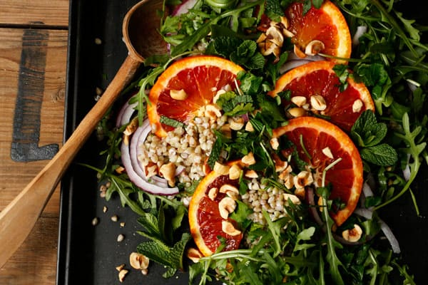 Blood Orange Arugula Buckwheat Salad
