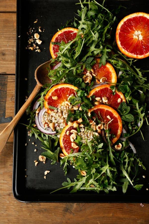 Blood Orange Arugula Buckwheat Salad