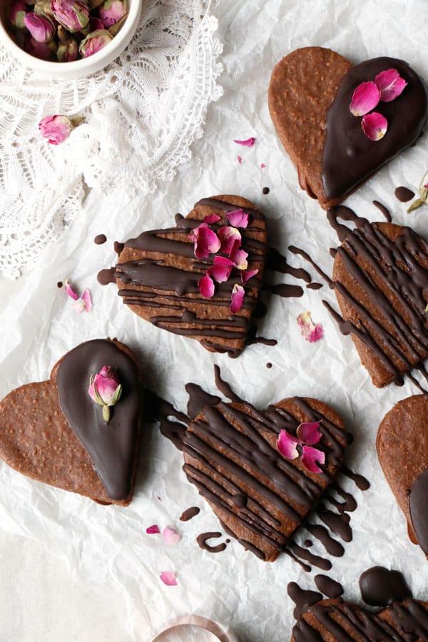 Vegan Chocolate Quinoa Sandwich Cookies (gluten-free, nut-free)