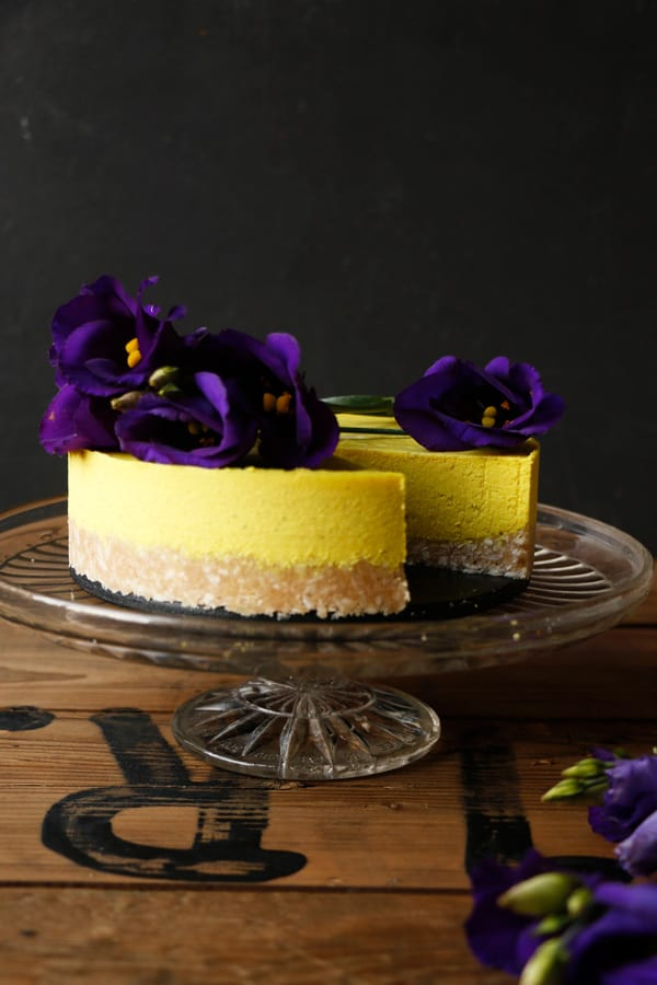 Golden Milk Macadamia Cheesecake (grain-free & vegan)