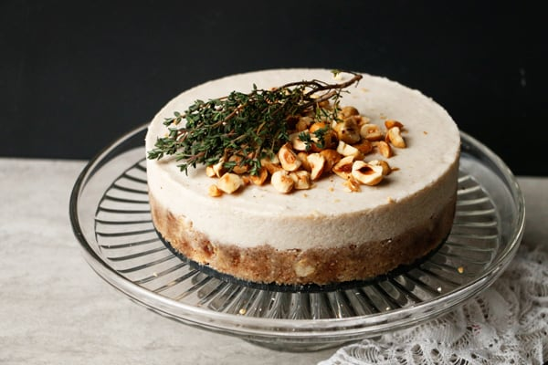 Parsnip Pear Hazelnut Cake (raw, vegan, grain-free)