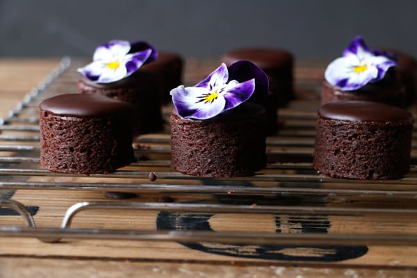 Vegan Brownie Petit Fours (gluten-free, nut-free)