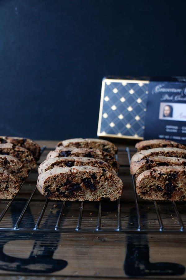 Vegan Gluten-Free Chocolate Biscotti - Nirvana Cakery
