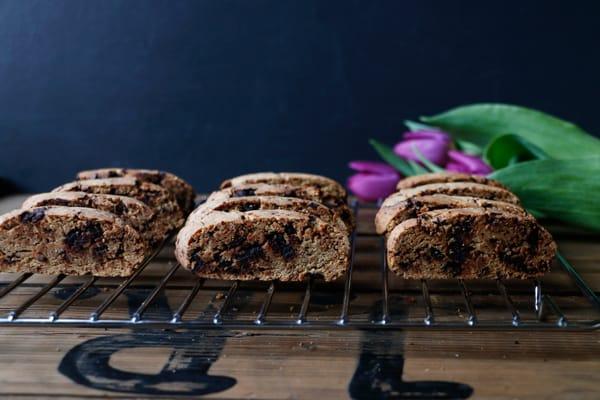 Vegan Gluten-Free Chocolate Biscotti