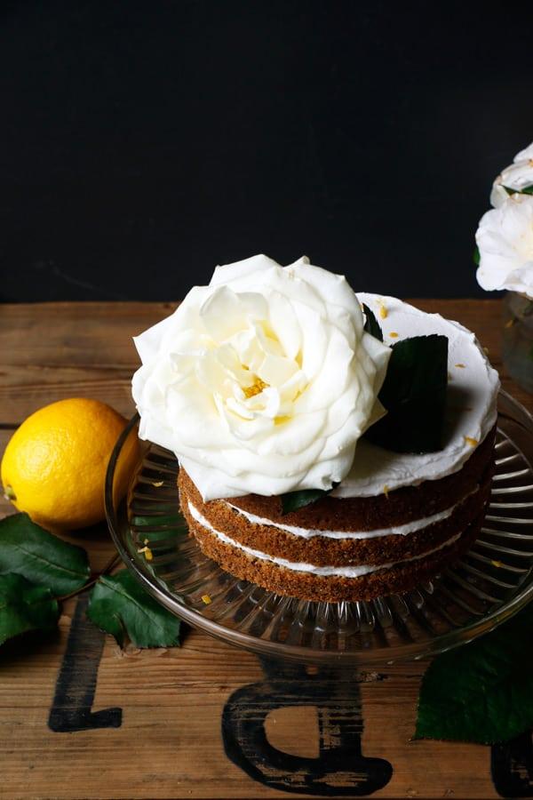 Lemon Poppy Seed Cake (gluten-free & vegan)