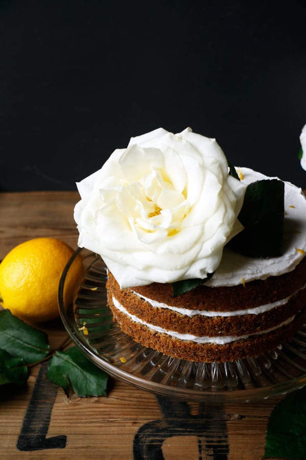 Lemon Poppy Seed Birthday Cake