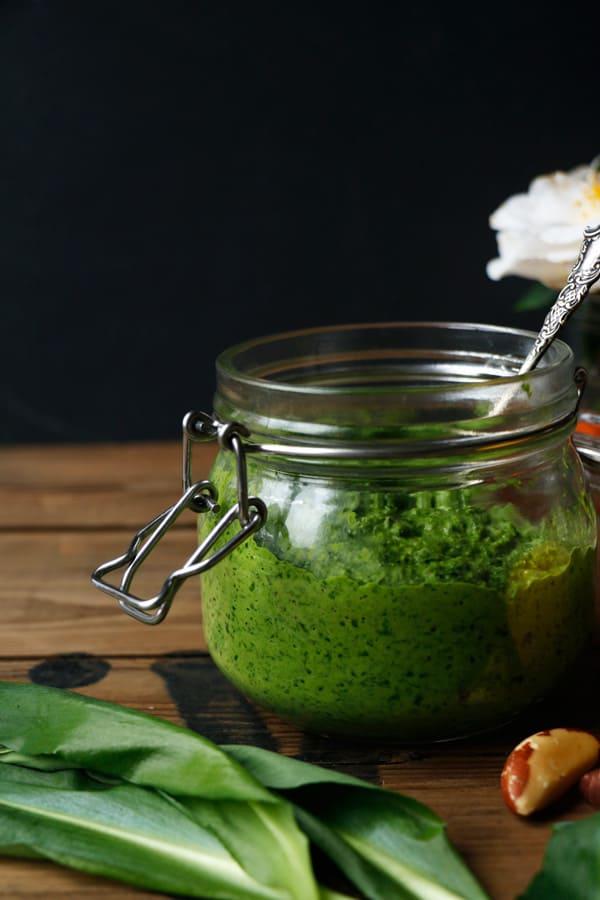 Wild Garlic Spring Greens Brazil Nut Pesto