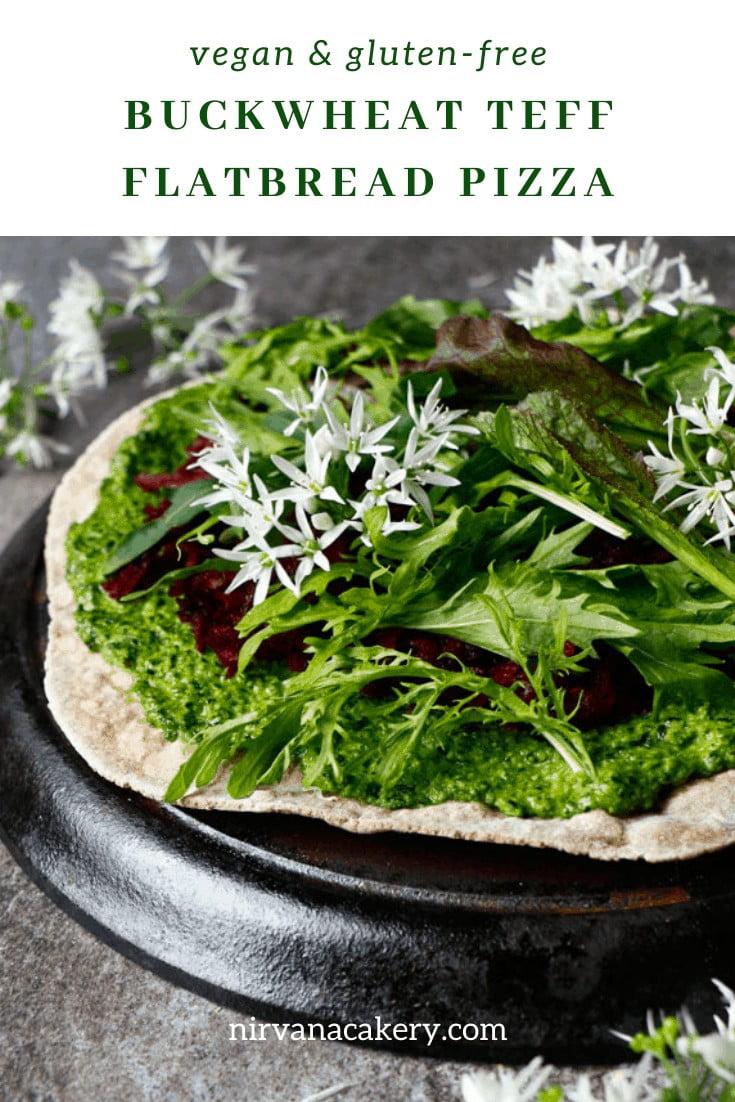 Buckwheat Teff Flatbread Pizza