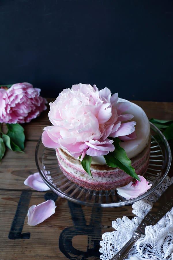 Strawberry Pistachio Layer Cake (gluten-free & vegan)