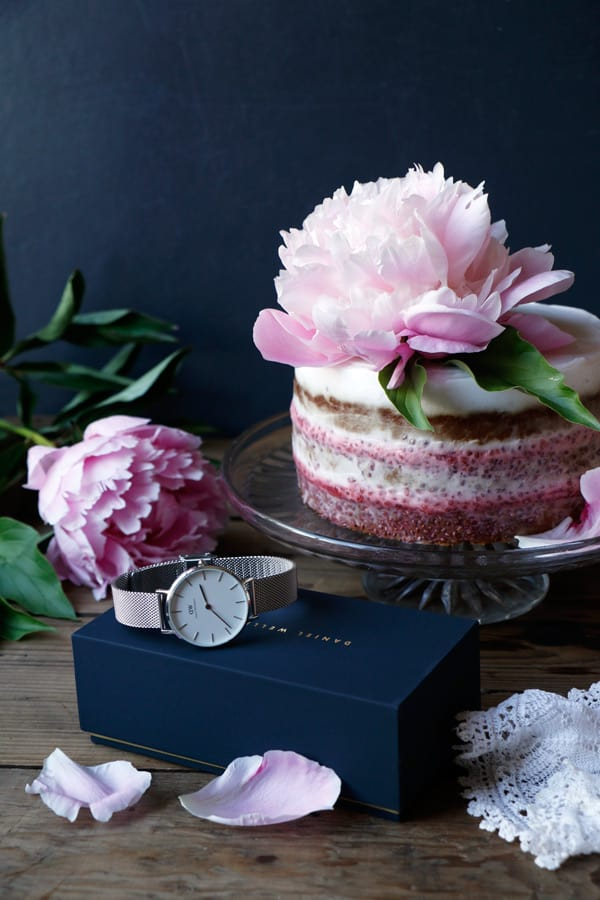 Strawberry Pistachio Layer Cake (gluten-free & vegan)