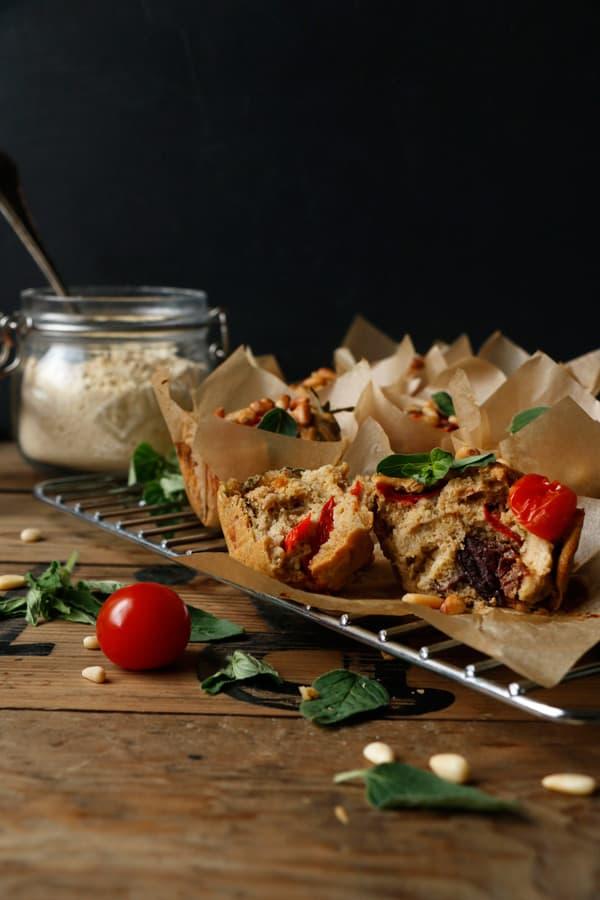 Mediterranean Picnic Muffins (gluten-free & vegan)