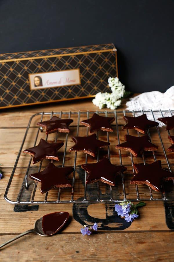 Chocolate Star Cookies (gluten-free & vegan)