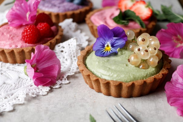 Summer Berry Tarts (gluten-free & vegan)