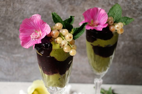 Blackberry Matcha Nice Cream