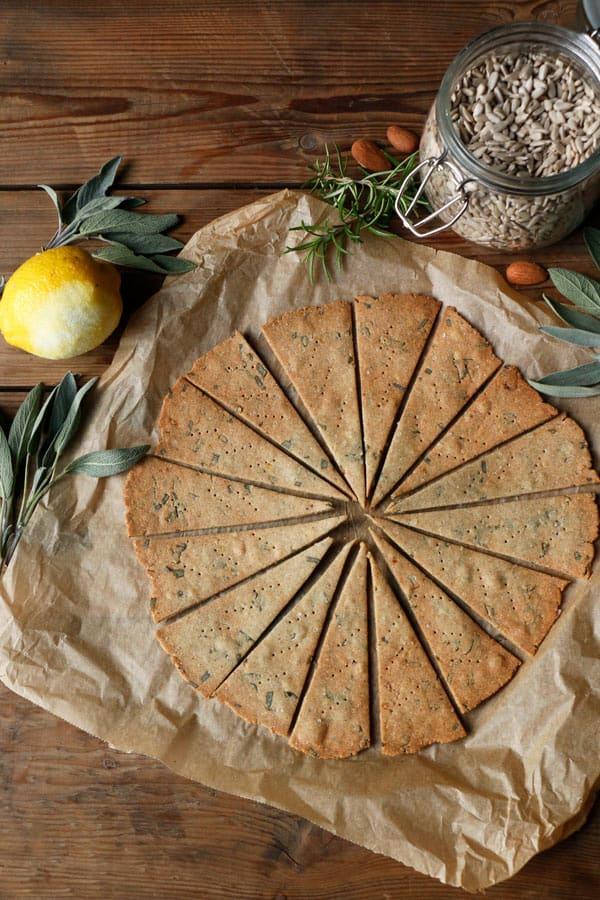 Sorghum Sage Crackers (gluten-free & vegan)