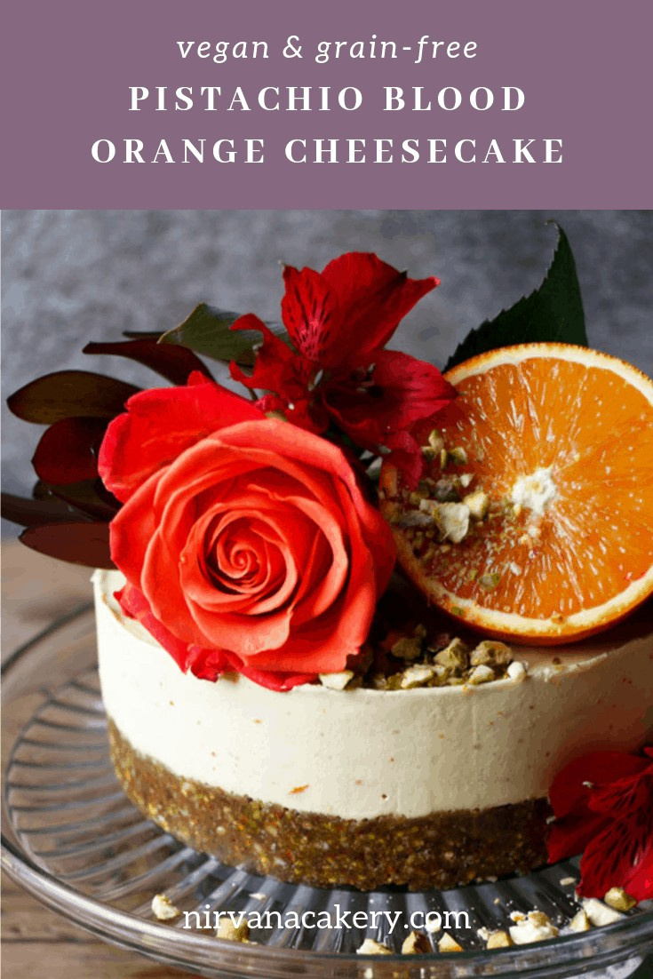 Pistachio Blood Orange Cheesecake