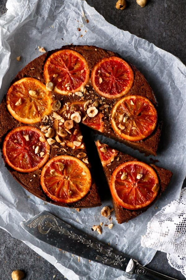 Blood Orange Upside Down Cake (grain-free & vegan)