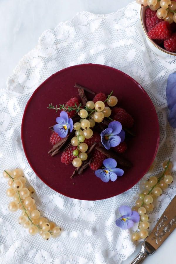 Chocolate Raspberry Bavarois (vegan & gluten-free)