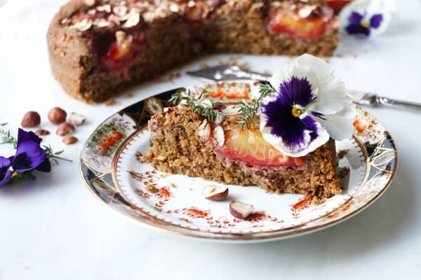Spiced Plum Cake (vegan & gluten-free)