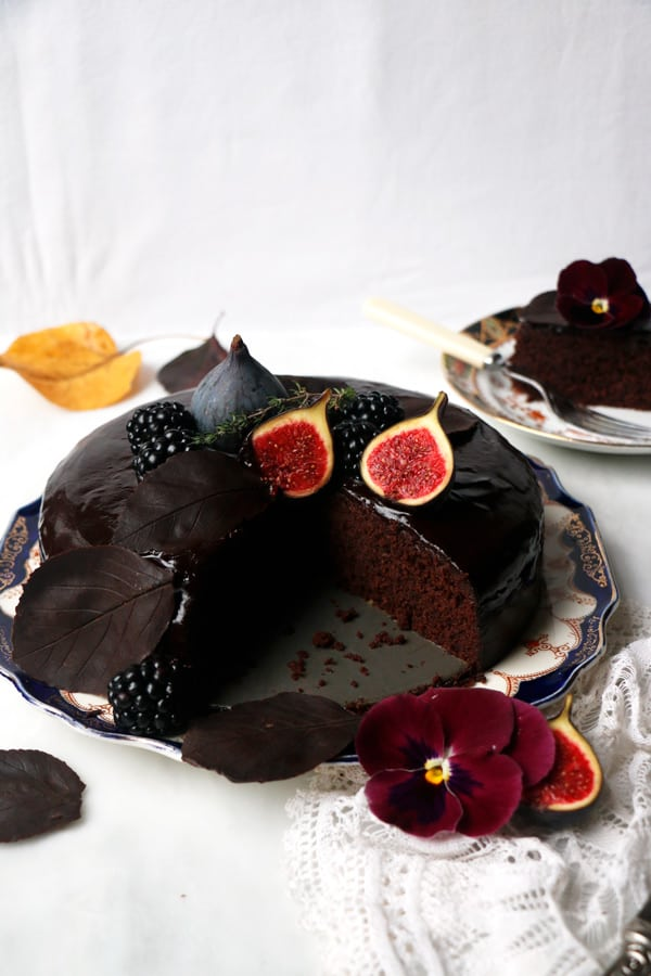 Gluten Free Chocolate Fig Cake