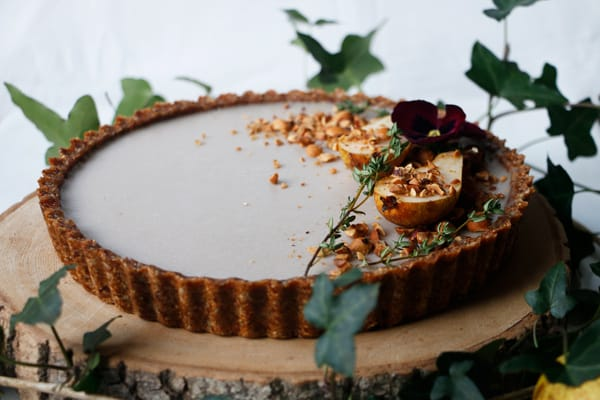 Pear Hazelnut Tart (vegan & grain-free)