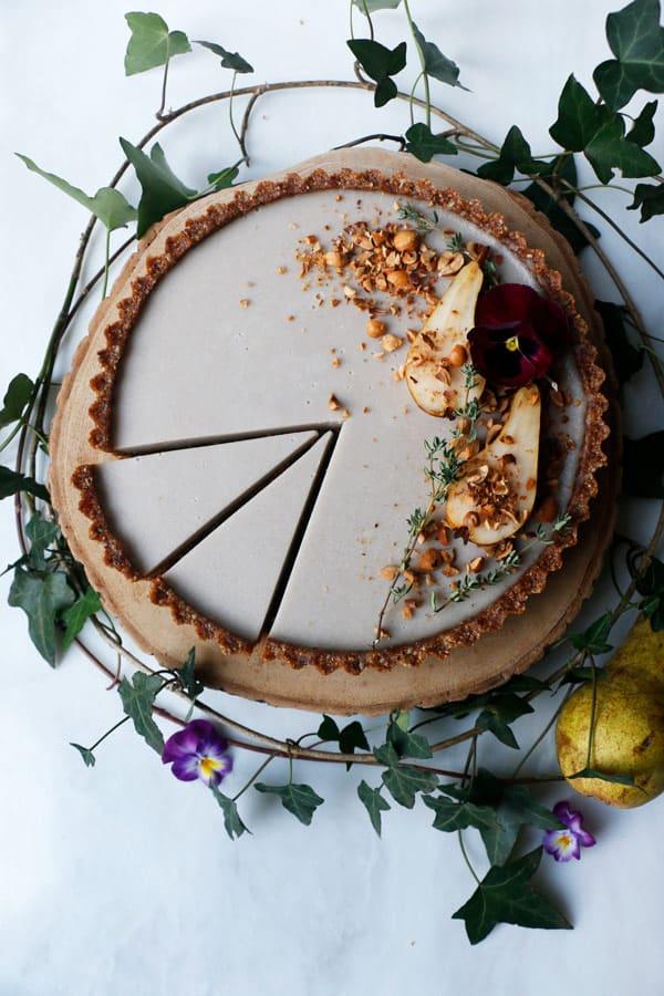Pear Hazelnut Tart (vegan & grain-free)