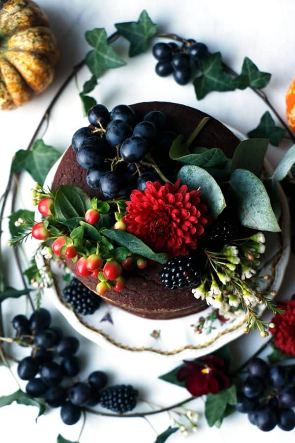 Pumpkin Chocolate Layer Cake (vegan & gluten-free)