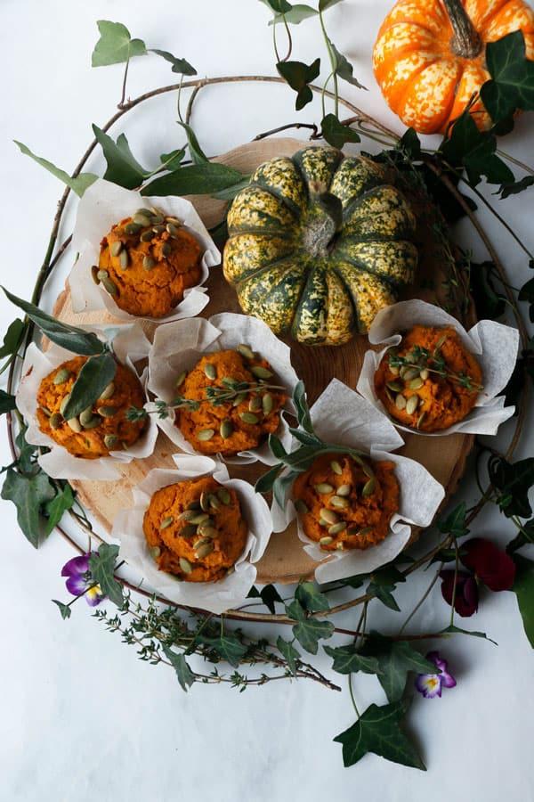 Savoury Pumpkin Muffins (vegan & gluten-free)