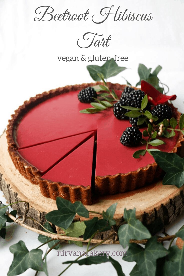 Beetroot Hibiscus Tart (vegan & grain-free)