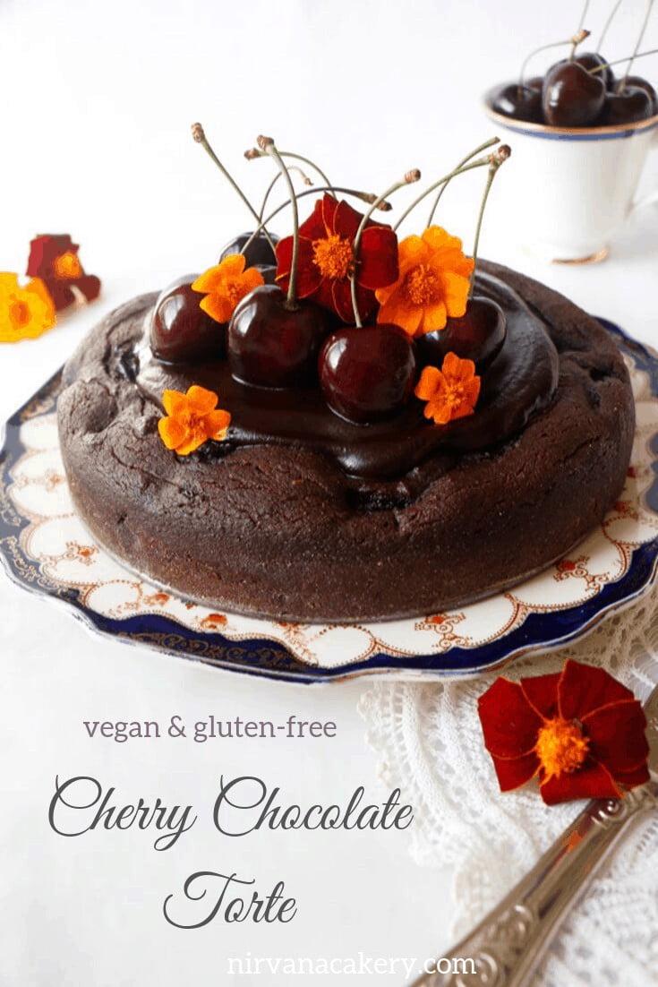 Cherry Chocolate Torte (vegan & gluten-free)