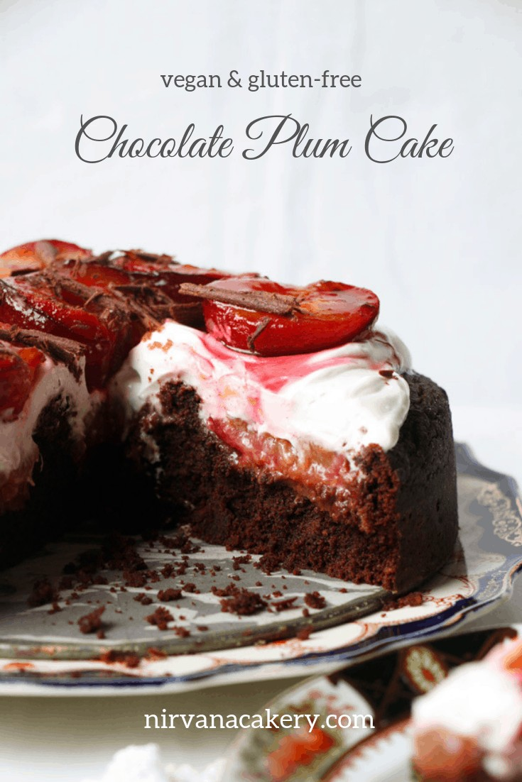 Chocolate Plum Cake (vegan & gluten-free)