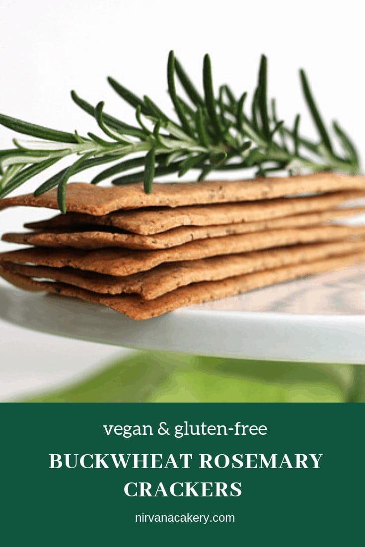 Buckwheat Rosemary Crackers (vegan & gluten-free)